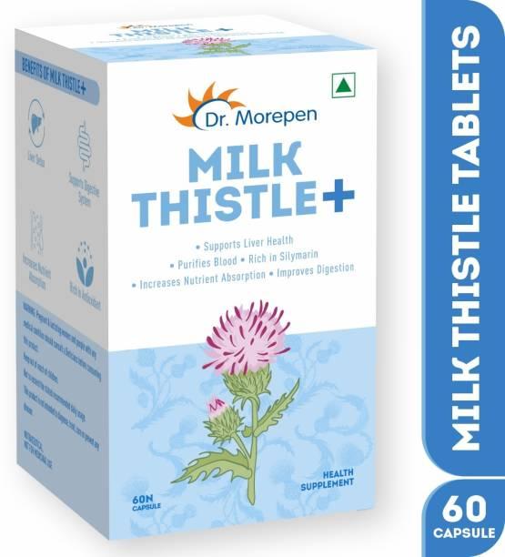 Dr. Morepen Milk Thistle+ For Liver Detox, Protection & Enhancement | Liver Support Supplement