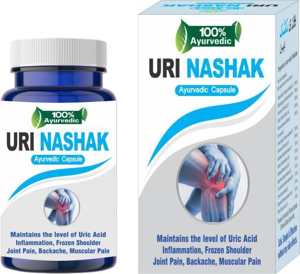 Dr. Asma Herbals Uri Nashak Ayurvedic Capsules for uric acid
