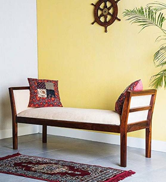 Shagun Arts Sheesham Wood Bench for Living Room | Hallway & Balcony Furniture | 2 Seater Dining Bench | | Brown Finish Solid Wood 2 Seater