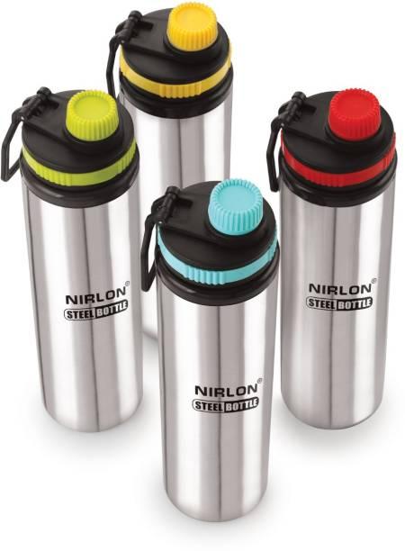 NIRLON ss fridge water bottle pack of 04,930ml 930 ml Sipper