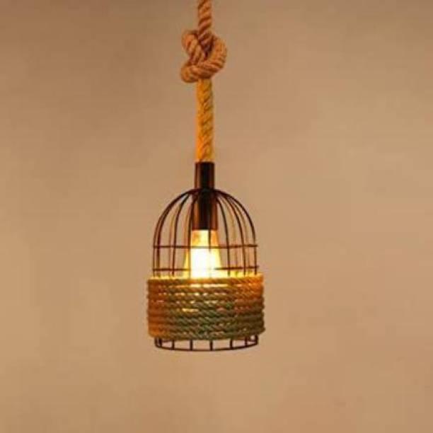 HomesElite Cage Rope Metal Single Hanging Light Chandelier Ceiling Lamp