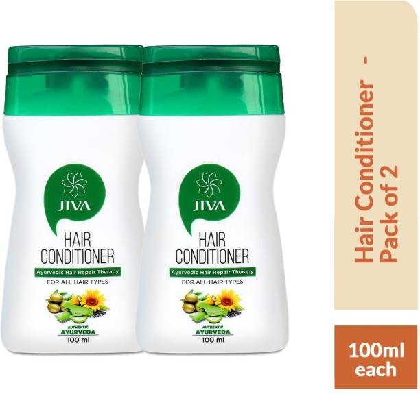 Jiva Hair Conditioner - Natural & Herbal Hair Conditioner - Provides Deep Nourishment - 100 ml Each - Pack of 2