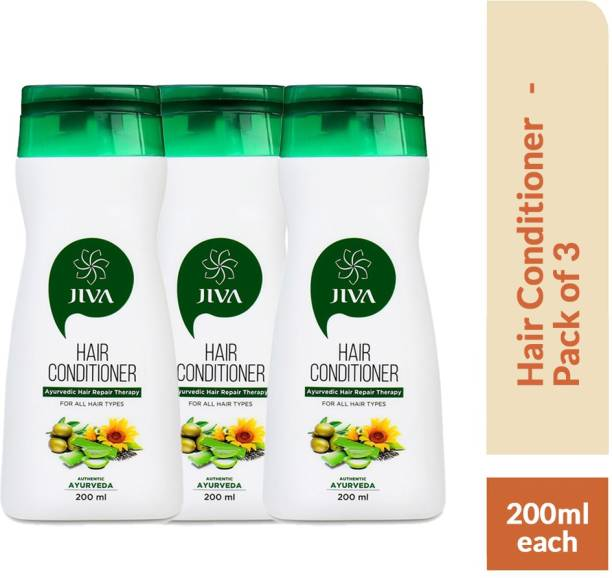 Jiva Hair Conditioner - Natural & Herbal Hair Conditioner - Provides Deep Nourishment - 200 ml Each - Pack of 3
