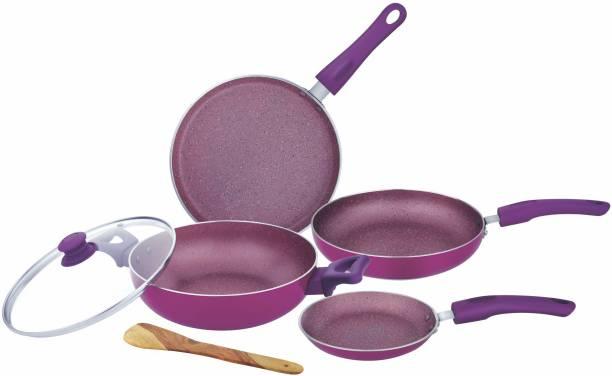 UCOOK Spalva 5 Pcs Non-Stick Induction Bottom Cookware Set