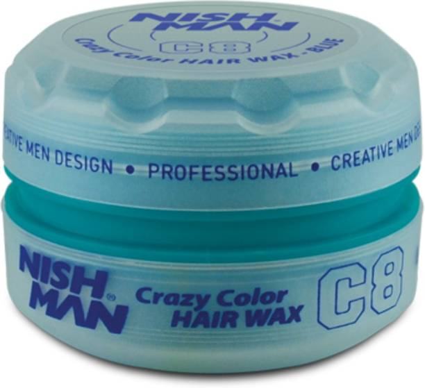 Nishman Temporary Color and Styling Wax- Blue Hair Wax