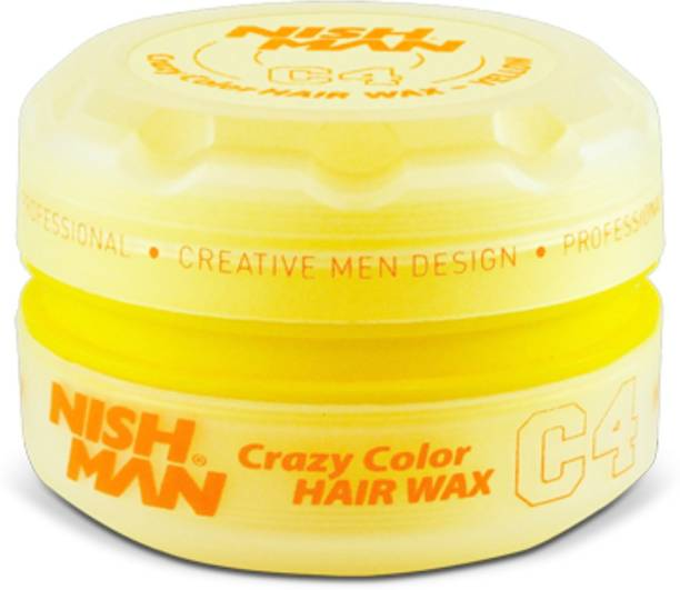 Nishman Temporary Color and Styling Wax- Yellow Hair Wax