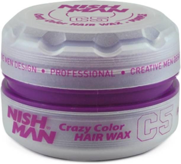 Nishman Temporary Color and Styling Wax- Purple Hair Wax