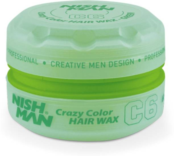 Nishman Temporary Color and Styling Wax- Green Hair Wax