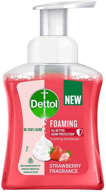 Dettol Strawberry Fragrance Foaming Hand Wash Pump Dispenser