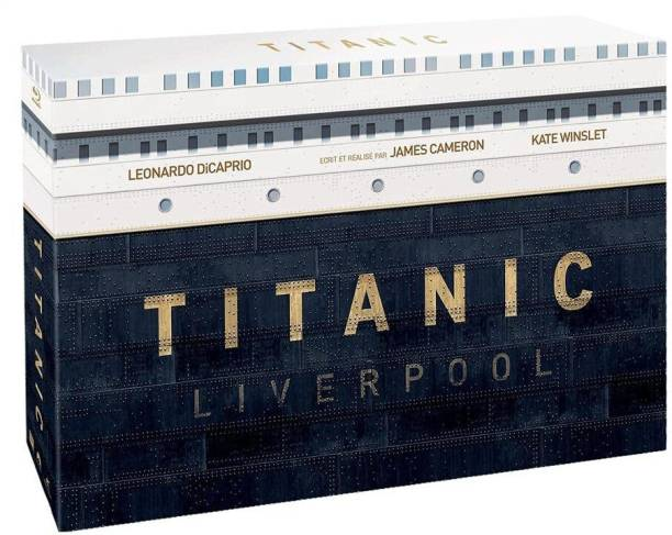 James Cameron's Special Collector's Edition: Titanic Liverpool Gift Box Set (Blu-ray 3D + Blu-ray) (4-Disc Set) + Exclusive Souvenir Book + Collectible Sketch Postcards (Top Lid Slipcase Packaging)