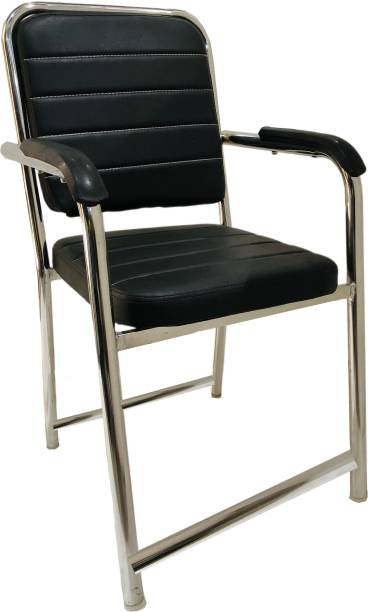 KITHANIA OFFICE EXECUTIVE HEAVY OFFICE STUDY HOME VISITOR WITH ARMS AND EXTRA BACK SUPPORT AND FRONT FOOTREST WITHOUT REVOLVING CHAIR HOLDS UP TO 190 KG WEIGHT HEAVY DUTY CHAIR Leather Office Visitor Chair