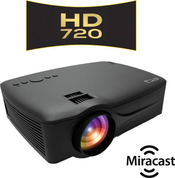 EG 6X Miracast (3200 lm / 1 Speaker / Wireless / Remote Controller) Portable Projector