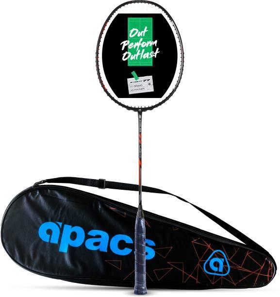 apacs Z-Ziggler 77 Light (77g, Strung, Ultra Graphite) Black, Orange Strung Badminton Racquet