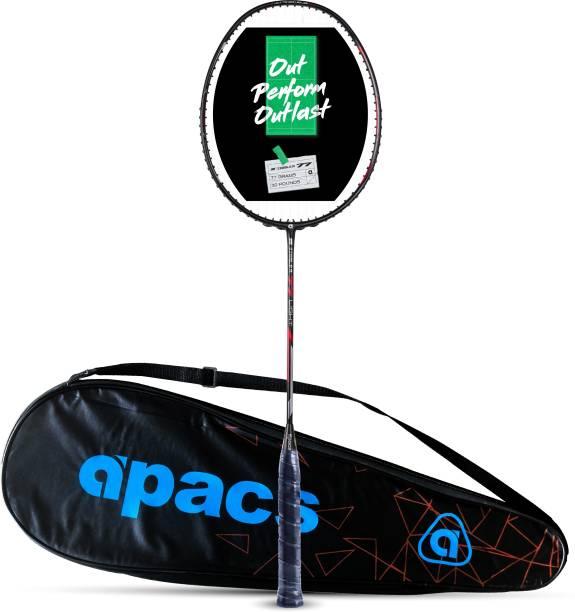 apacs Z-Ziggler 77 Light (77g, Strung, Ultra Graphite) Black, Red Strung Badminton Racquet