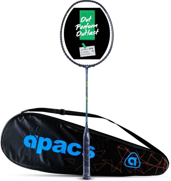 apacs Z-Ziggler 77 Light (77g, Strung, Ultra Graphite) Black, Green Strung Badminton Racquet