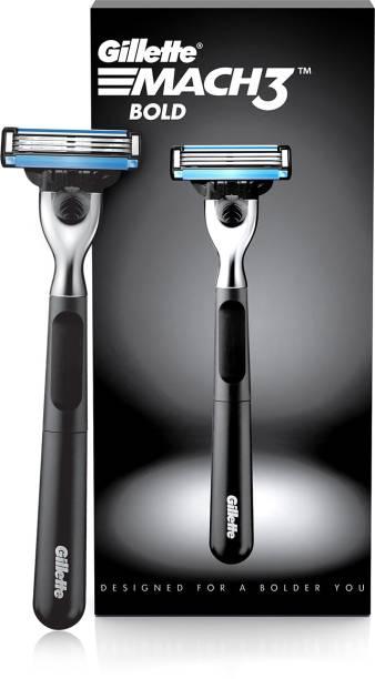 GILLETTE Mach3 Bold 1 Razor + 1 Cartridge (Mach3s most stylish shaver for men)