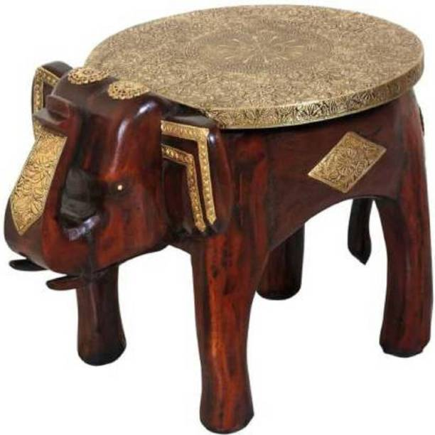 YKM Elephant Solid Wood Bedside Table