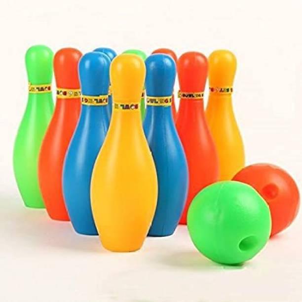 Saienterprises Toy Bowling Game Set (10 Bottles & 2 Balls) Bowling