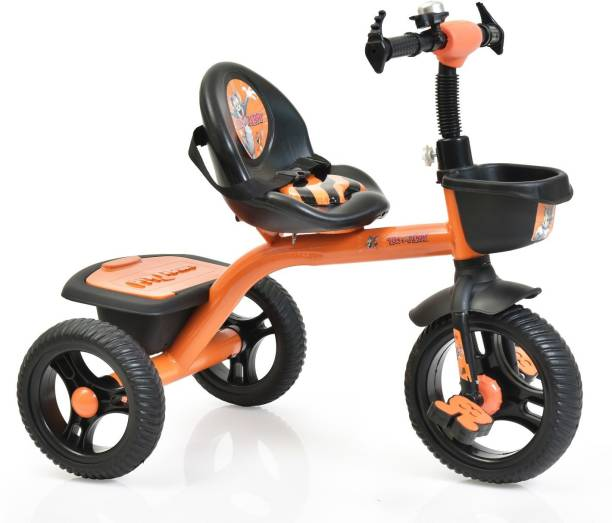 Miss & Chief Tom & Jerry Licensed kids' Premium Tricycle with Seat Cushion, Shock Absorber, Basket KTC- 3201 Tricycle