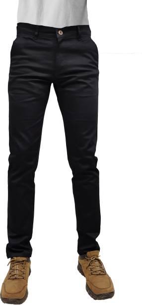 CEFALU Regular Fit Men Black Trousers