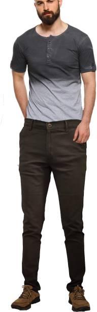 CEFALU Regular Fit Men Green Trousers