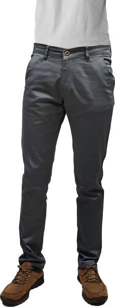 CEFALU Regular Fit Men Grey Trousers