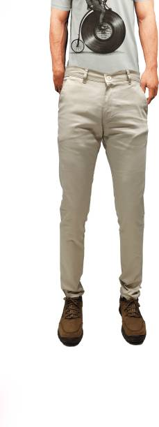 CEFALU Regular Fit Men Cream Trousers
