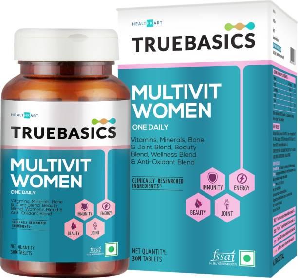 TrueBasics Multivit Women One Daily, Multivitamins, Multiminerals, Antioxidants (30 No)