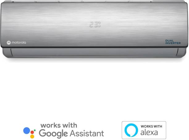MOTOROLA 1.5 Ton 3 Star Split Dual Inverter Smart AC with Wi-fi Connect  - Silver