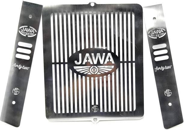 CHOKKAS Stainless Steel Motorcycle Radiator Guard Protector Grill Only Fit in JAWA Motorcycle (JAWA 42) Bike Radiator Guard