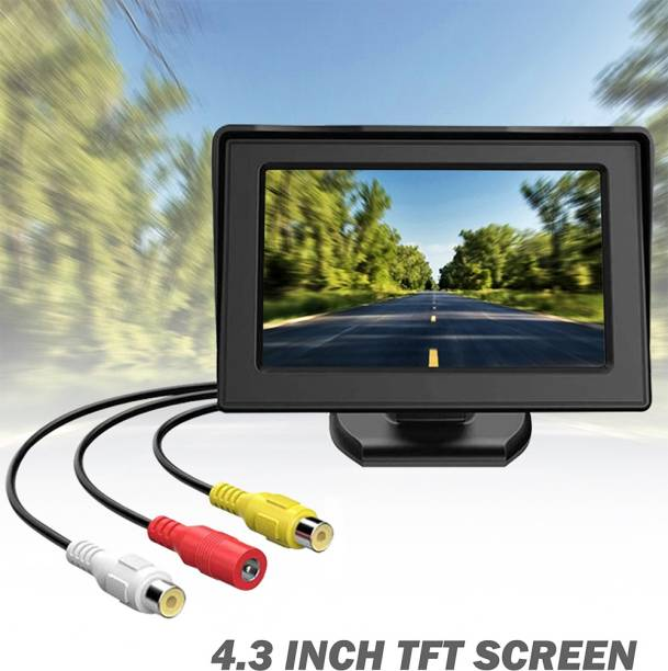 CARZEX Car Monitor for Parking Display 4.3-inch TFT LCD Rear View Screen Desktop With Camera universal cars Black LCD