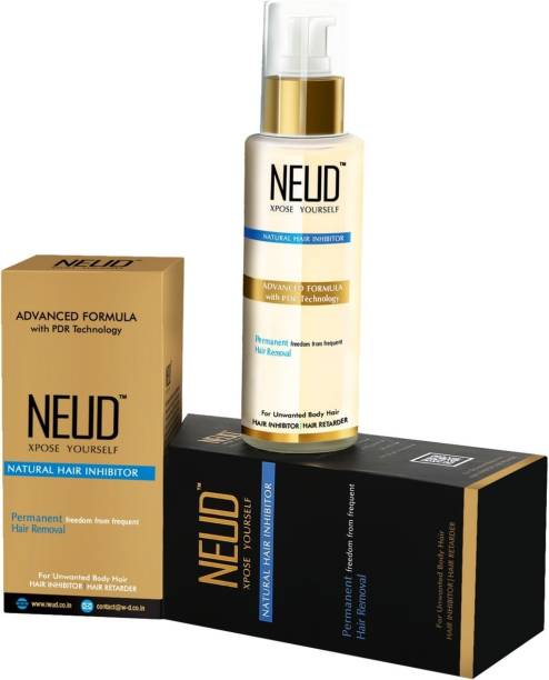 NEUD Natural Hair Inhibitor- Permanent Reduction of Unwanted Hair for Men & Women Cream