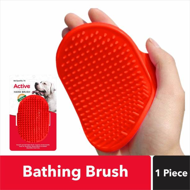 Active Bathing and Grooming Hand Plain/ Bristle Brushes for  Dog