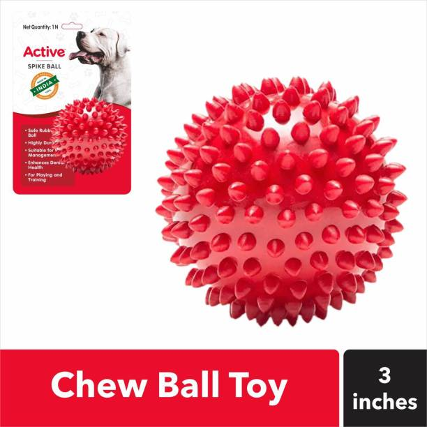 Active Non-Toxic Stud Spike Hard Rubber Ball For Dog