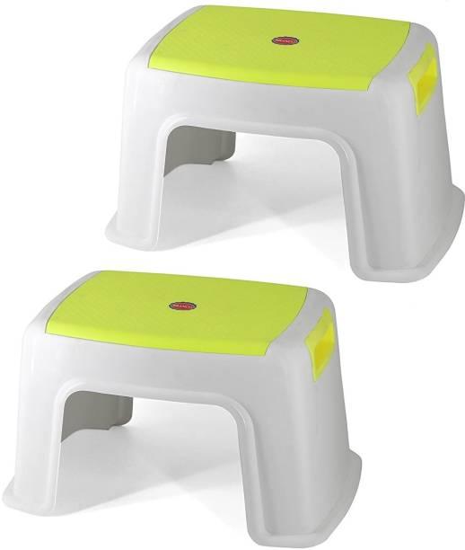 Branco Bathroom Anti-Skid Seating Stool TOTO Set Of 2- Parrot Green Bathroom Stool