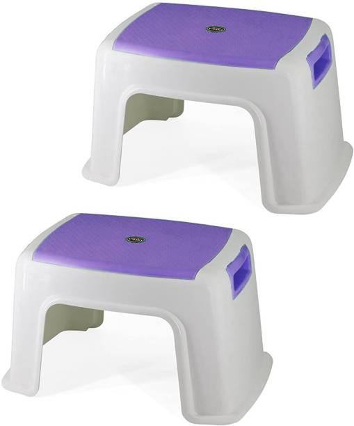 Branco Bathroom Anti-Skid Seating Stool TOTO Set of 2- Purple Bathroom Stool