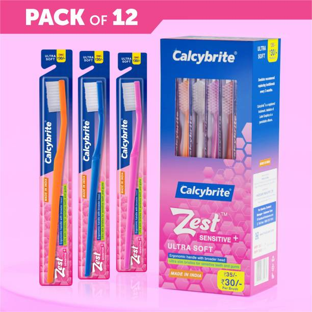 calcybrite Zest SENSITIVE+ Ultra Soft Toothbrush