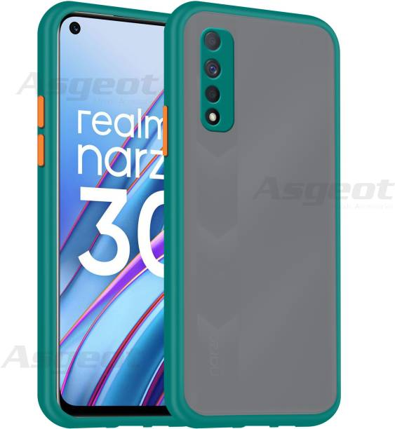Asgeot Back Cover for Realme Narzo 30 Back Case Full Camera Protection Smoke Matte Finish Cover