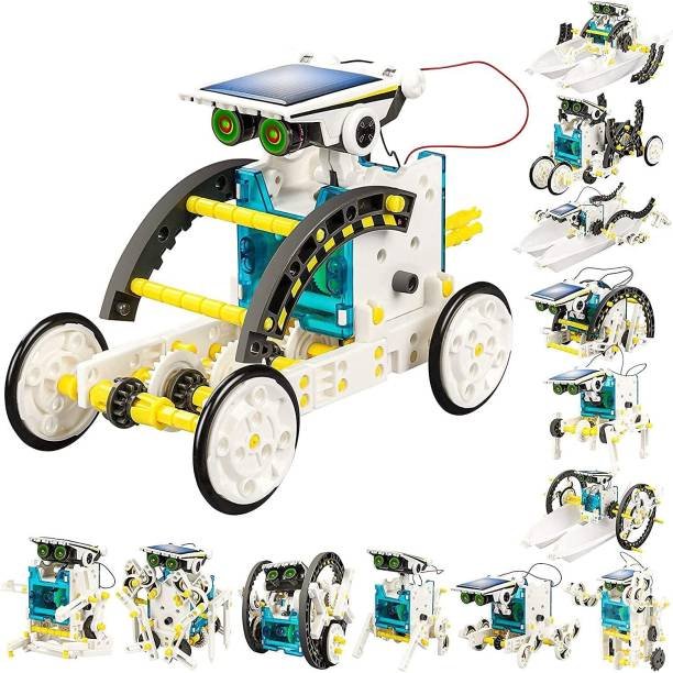 Galactic 13-in-1 Solar Power Robots Creation Toy, Educational Experiment DIY Robotics Kit, Science Toy Solar Powered Building Robotic Set Age 8-16 for Boys Girls Kids Teens to Build (Solar Robot)