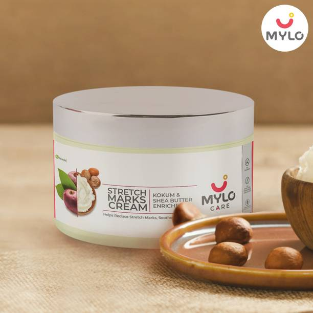 MYLO CARE Stretch Marks Cream for Pregnancy with the Goodness of Shea Butter, Saffron, Kokum Butter and Aloe Vera