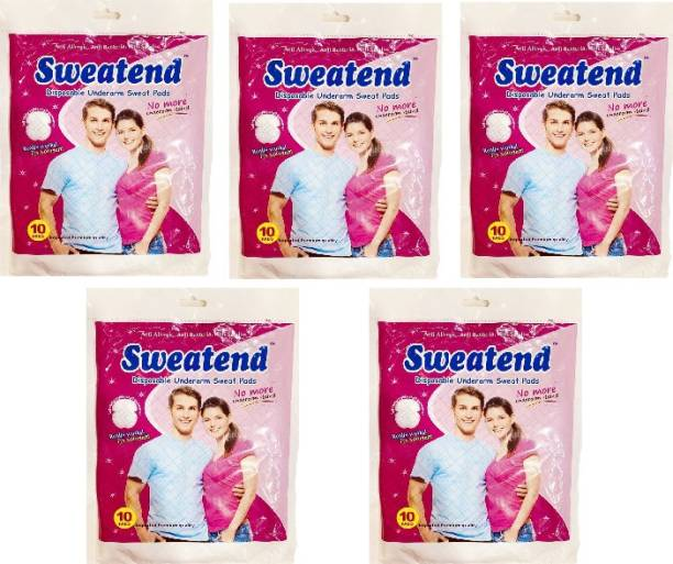 ARTH RETAIL HOUSE Sweat Pads Disposable Underarm Sweat Pads (Pack of 5) Sweat Pads (50 Pads) Sweat Pads
