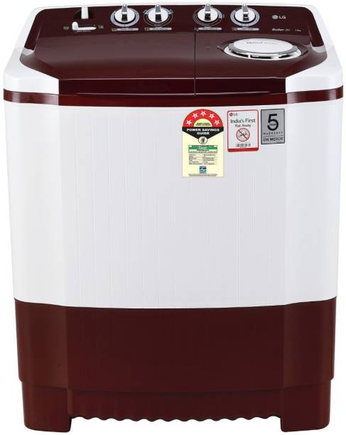 LG 7 kg Semi Automatic Top Load Red