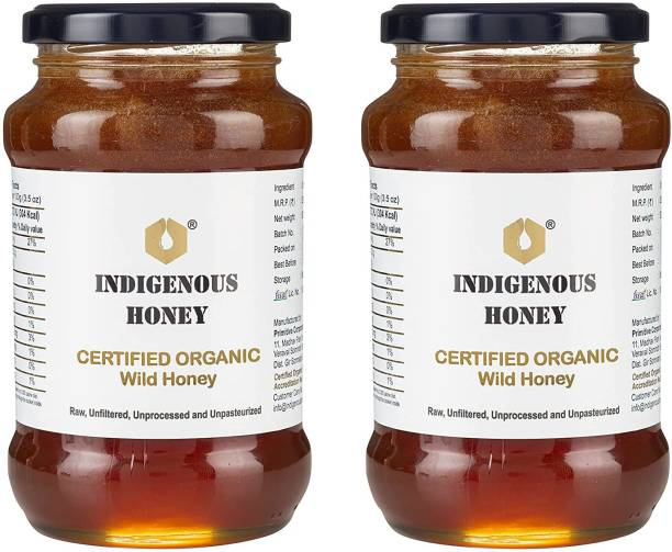 INDIGENOUS HONEY raw, organic, unprocessed, unfiltered, natural, pure honey (Pack Of 2)