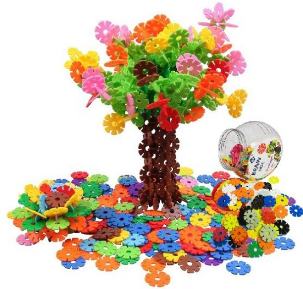 SKEDIZ 150 Interlocking Plastic Disc Set - A Creative and Educational Alternative to Building Blocks - A Great Stem Toy for Both Boys and Girls
