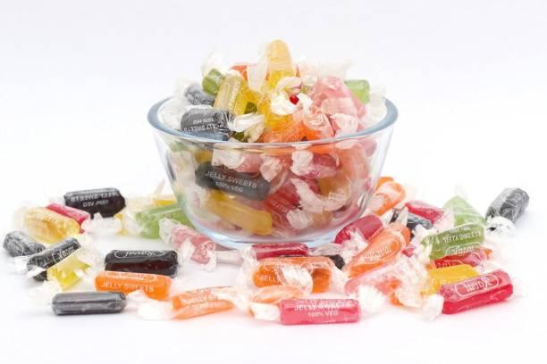 Vedik Wellness Jelly Soft Candy | Jelly Toffee | Colourful Jelly | Jelly Candy | Jelly Chocolate (400 Gram) mix fruit Jelly Candy