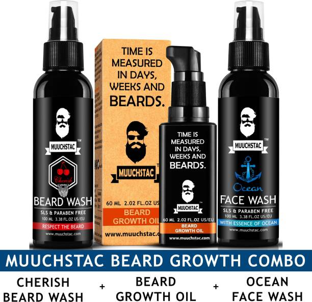 MUUCHSTAC Beard Care and Fcae care Combo kit