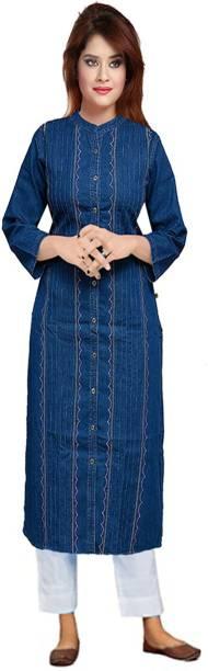 CEFALU Women Embroidered Ethnic Dress Kurta