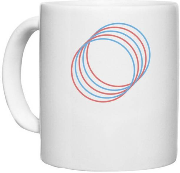 UDNAG White Ceramic Coffee / Tea 'Illustration   Drawing' Perfect for Gifting [330ml] Ceramic Coffee Mug
