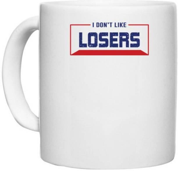 UDNAG White Ceramic Coffee / Tea 'Losers   Donalt Trump' Perfect for Gifting [330ml] Ceramic Coffee Mug