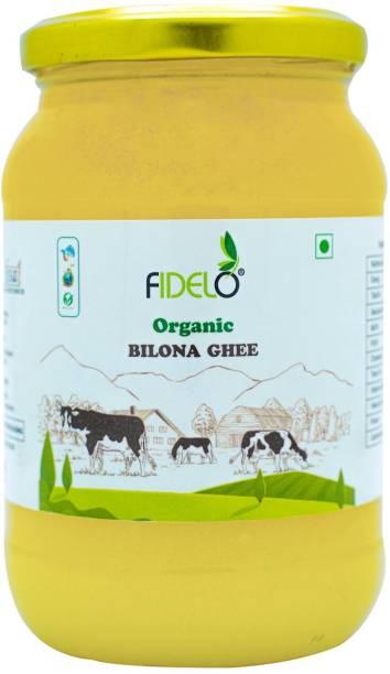 FIDELO Organic BILONA GHEE (Pack of 1) 500 ml Glass Bottle